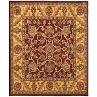 "Safavieh Handmade Golden Jaipur Burgundy/ Gold Wool Rug - 8'3"" x 11'"