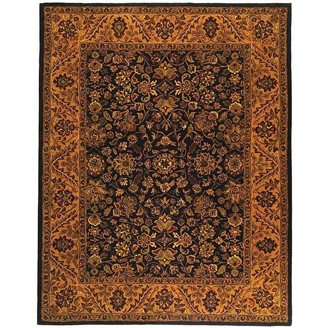 Safavieh Handmade Golden Jaipur Black/ Gold Wool Rug (9'6 x 13'6)