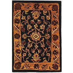 Safavieh Handmade Golden Jaipur Black/ Gold Wool Rug (2' x 3')