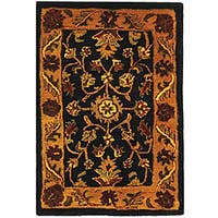 Safavieh Handmade Golden Jaipur Black/ Gold Wool Rug - 2' X 3'