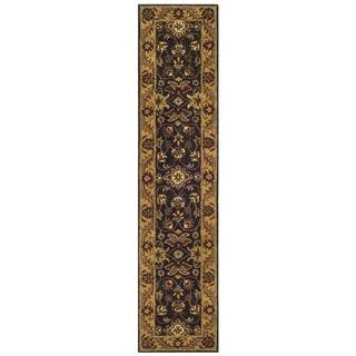 Safavieh Handmade Golden Jaipur Black/ Gold Wool Runner (2'3 x 10')