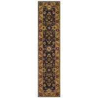 Safavieh Handmade Golden Jaipur Black/ Gold Wool Runner - 2'3 x 10'