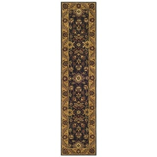 Safavieh Handmade Golden Jaipur Black/ Gold Wool Runner (2'3 x 12')