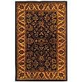 Safavieh Handmade Golden Jaipur Black/ Gold Wool Rug (4' x 6')