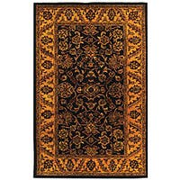Safavieh Handmade Golden Jaipur Black/ Gold Wool Rug - 5' x 8'