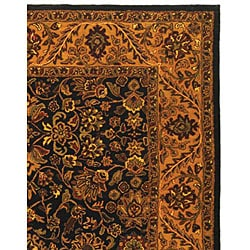 Safavieh Handmade Golden Jaipur Black/ Gold Wool Rug (6' x 9')
