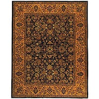 Safavieh Handmade Golden Jaipur Black/ Gold Wool Rug (6' x 9')