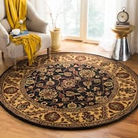 Safavieh Handmade Golden Jaipur Black/ Gold Wool Rug - 6' x 6' Round