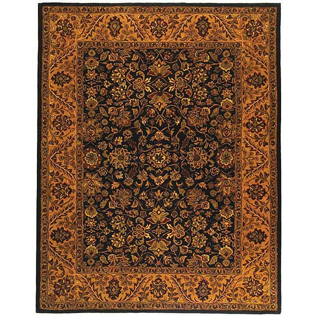 Safavieh Handmade Golden Jaipur Black/ Gold Wool Rug (7'6 x 9'6)