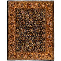 "Safavieh Handmade Golden Jaipur Black/ Gold Wool Rug - 7'6"" x 9'6"""