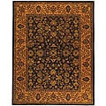 Safavieh Handmade Golden Jaipur Black/ Gold Wool Rug - 7'6 x 9'6