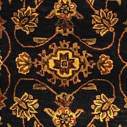 Safavieh Handmade Golden Jaipur Black/ Gold Wool Rug (7'6 x 9'6 Oval) - Thumbnail 1
