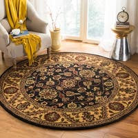 Safavieh Handmade Golden Jaipur Black/ Gold Wool Rug - 8' x 8' Round