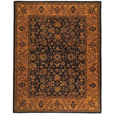 "Safavieh Handmade Golden Jaipur Black/ Gold Wool Rug - 8'3"" x 11'"
