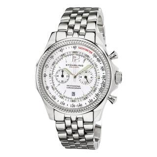 Stuhrling Original Men's Targa 24 Pro Chrono Watch with White Dial