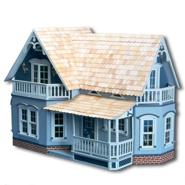 Magnolia Blue Wood Dollhouse Kit