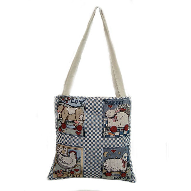 American Mills Susan's Animals Open-top Tote Bag