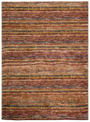 Safavieh Hand-knotted All-Natural Striped Red/ Multi Rug (6' x 9')
