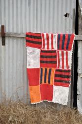 Vintage Stripe Crocheted Throw Blanket