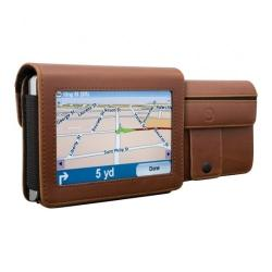 Travelfolio GPS 4.3-inch Brown Leather Case