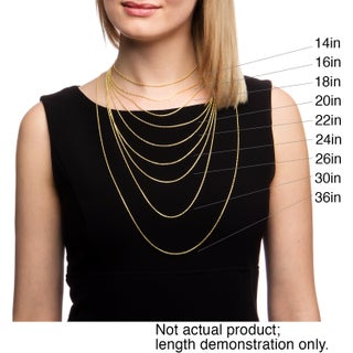 Fremada 14k Yellow Gold Box Necklace (16-30 inch) (5 options available)