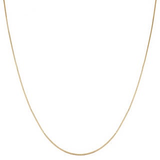 Fremada 14k Yellow Gold Box Necklace (16-30 inch)