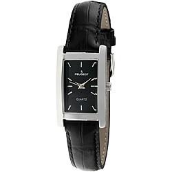 Peugeot Women's Rectangular Silvertone Watch