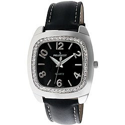 Peugeot Women's Cushion Silvertone Strap Watch
