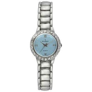 Peugeot Women's Crystal Silvertone Watch