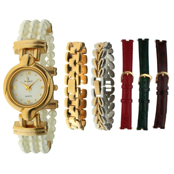 Peugeot Women's Interchangable Goldtone Watch
