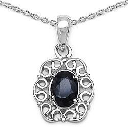 Malaika Silver Genuine Sapphire Necklace