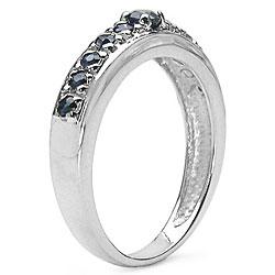 Malaika Sterling Silver Genuine Blue Sapphire Ring