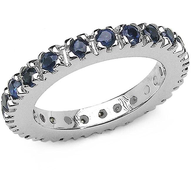 Malaika Sterling Silver Sapphire Eternity Ring