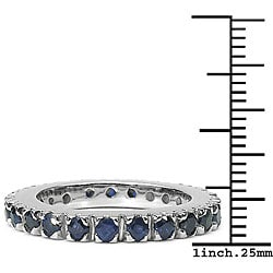 Malaika Sterling Silver Sapphire Eternity Ring - Thumbnail 2