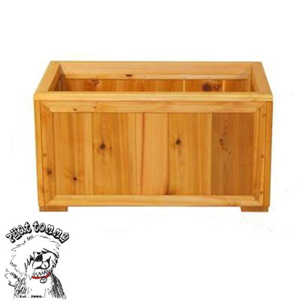 PHAT TOMMY Western Red Cedar Rectangle Planter Box