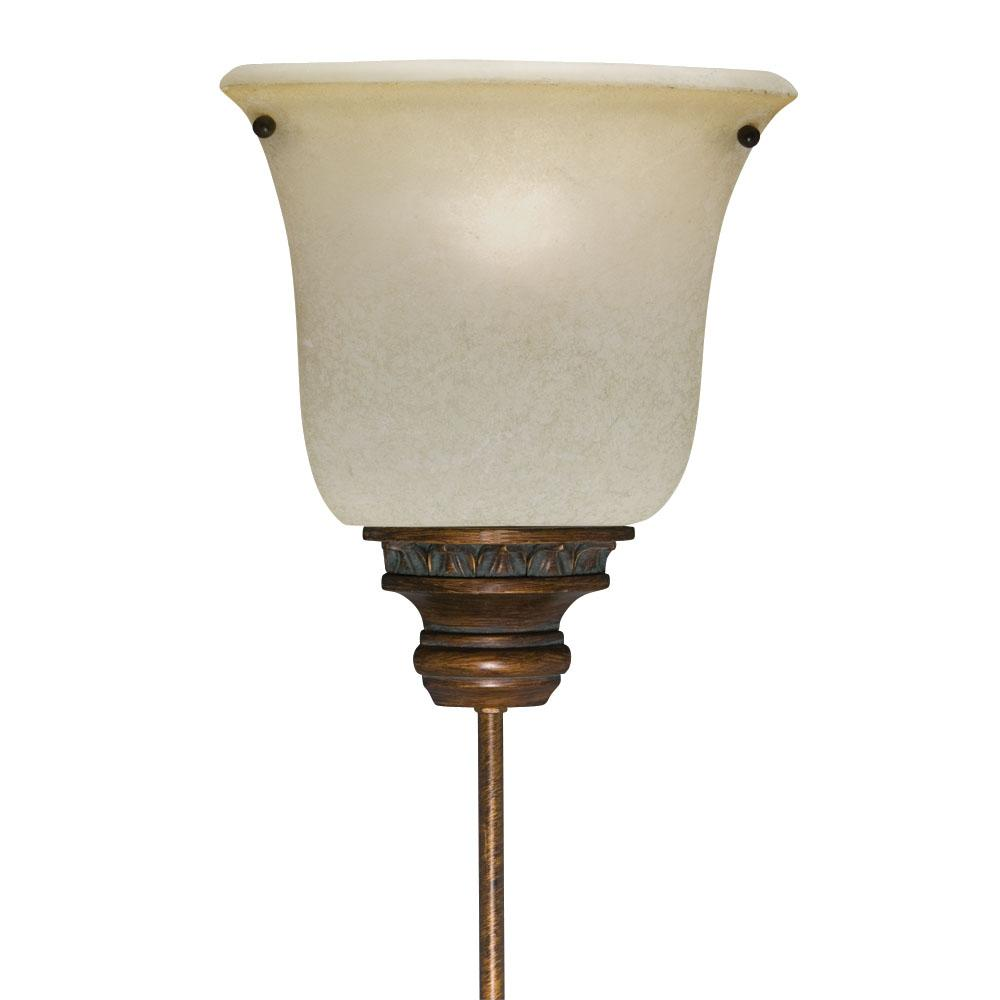 Corner Pin-up Plug-in Golden Bronze Lamp