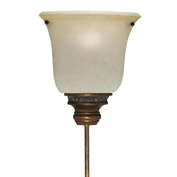 Corner Pin-up Plug-in Golden Bronze Lamp