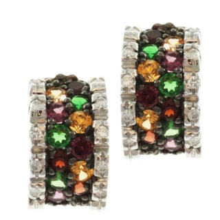 Michael Valitutti 14k Gemstone Diamond Earrings