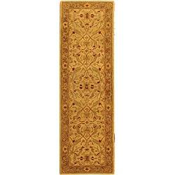 Safavieh Handmade Treasure Ivory/ Brown Wool Runner (2'3 x 14')