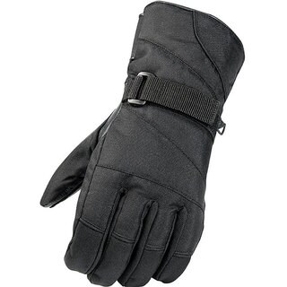 Raider Men's Black Weatherproof Leather/Nylon Ski Gloves