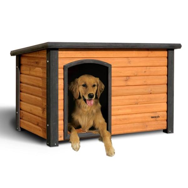Precision pet medium outback log cabin dog house free for Outback log cabin dog house