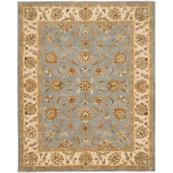 Safavieh Handmade Heritage Traditional Kerman Blue/ Beige Wool Rug (8'3 x 11')
