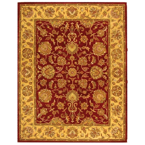 Safavieh Handmade Heritage Traditional Kerman Red/ Gold Wool Rug (6' x 9')