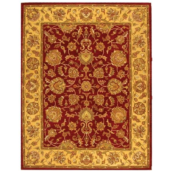 Safavieh Handmade Heritage Traditional Kerman Red/ Gold Wool Rug (8'3 x 11')