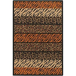 Artist's Loom Handmade Flatweave Transitional Animal Natural Eco-friendly Jute Rug (5'x7'6)