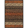 Artist's Loom Handmade Flatweave Transitional Animal Natural Eco-friendly Jute Rug (5'x7'6) - 5' x 7'6