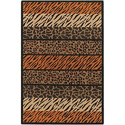 Artist's Loom Handmade Flatweave Transitional Animal Natural Eco-friendly Jute Rug (9'x13') - Thumbnail 0
