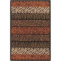 Artist's Loom Handmade Flatweave Transitional Animal Natural Eco-friendly Jute Rug - 9'x13'