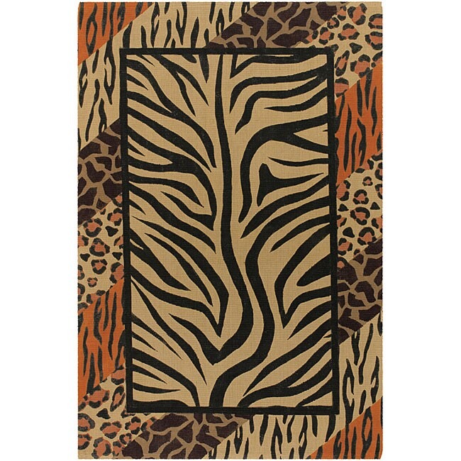 Artist's Loom Handmade Flatweave Transitional Animal Natural Eco-friendly Jute Rug - 9' x 13'