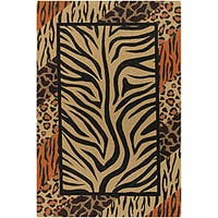 Artist's Loom Handmade Flatweave Transitional Animal Natural Eco-friendly Jute Rug (9'x13')